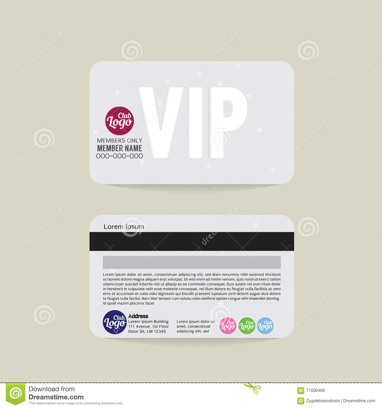 Template For Membership Cards  Club Membership Card Template