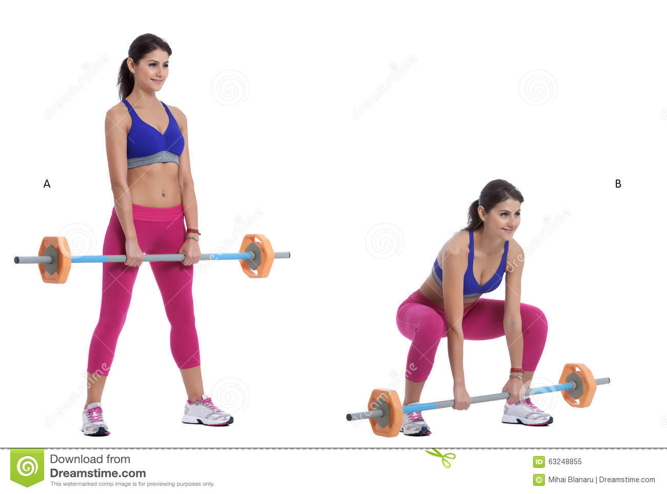 Front Barbell Squat Stock Photo Image 63248855