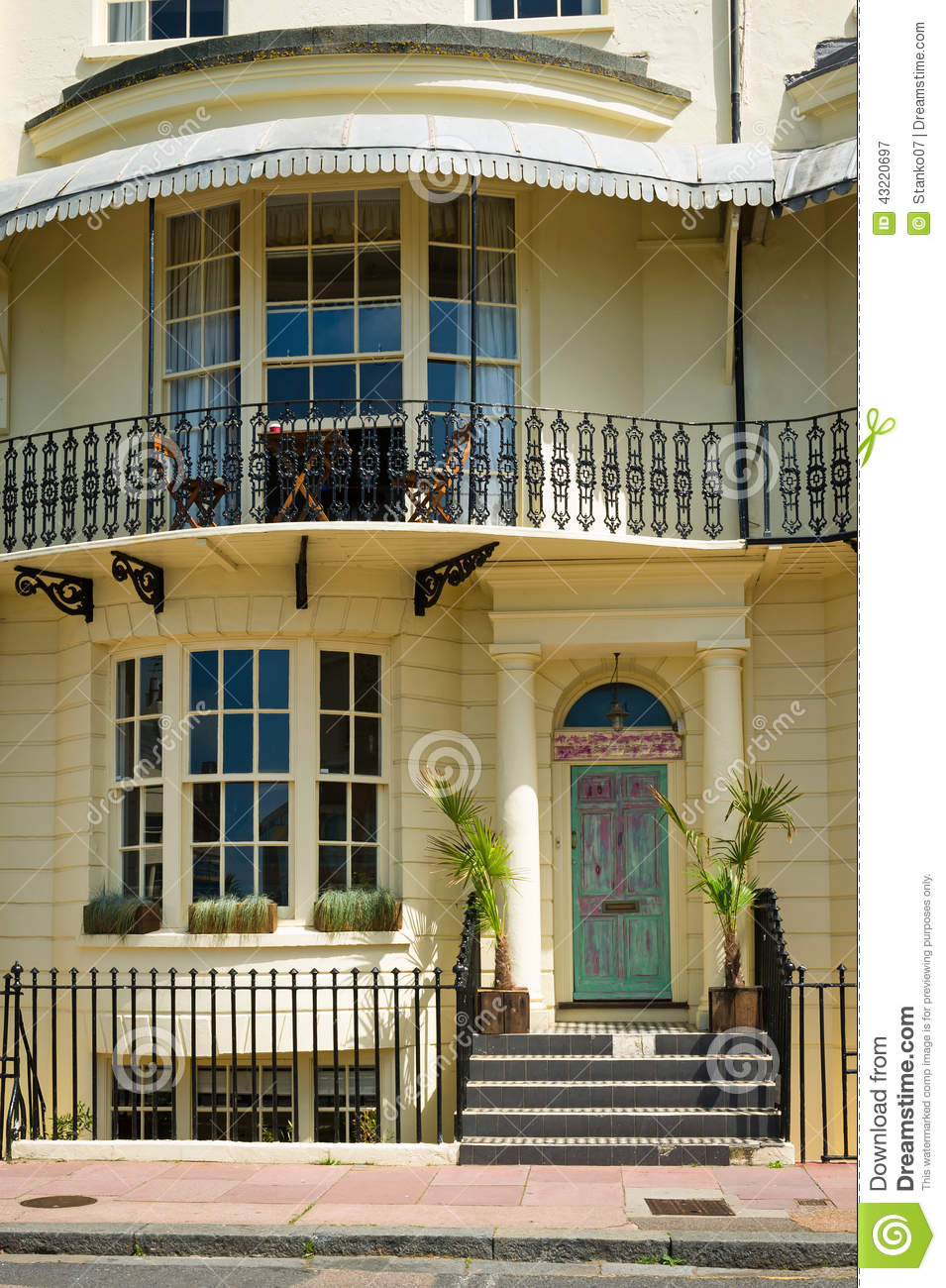 Front Of A Beautiful House. Stock Photo