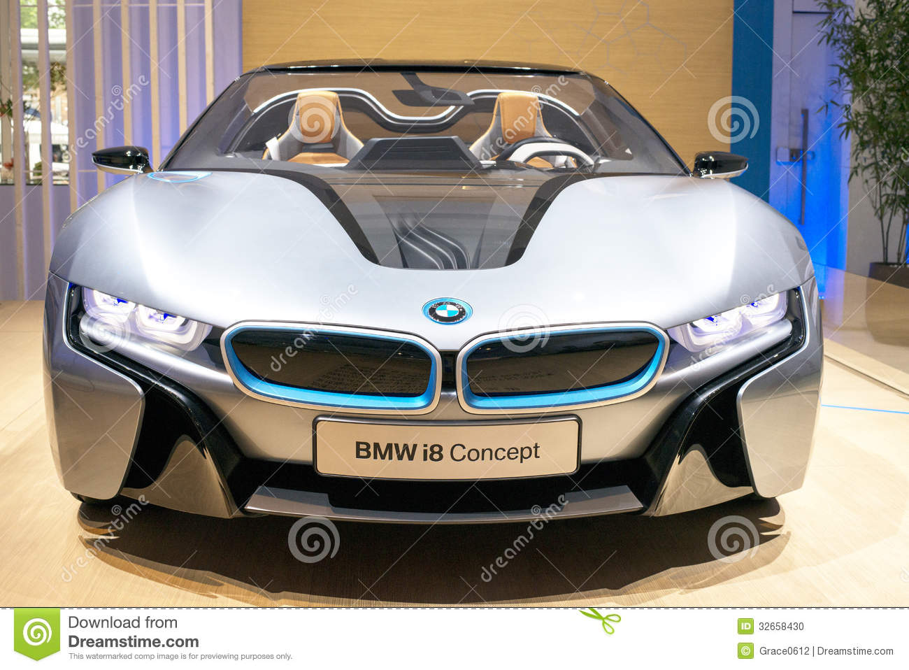 The Front Of The Bmw I8 Car Editorial Image Image Of Comfortable
