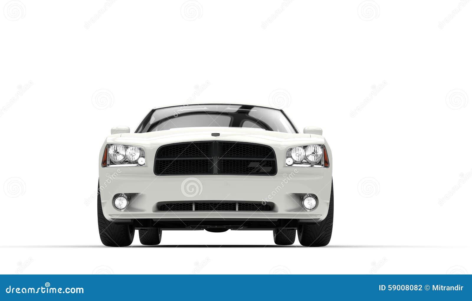 Front Closeup automobilistico bianco