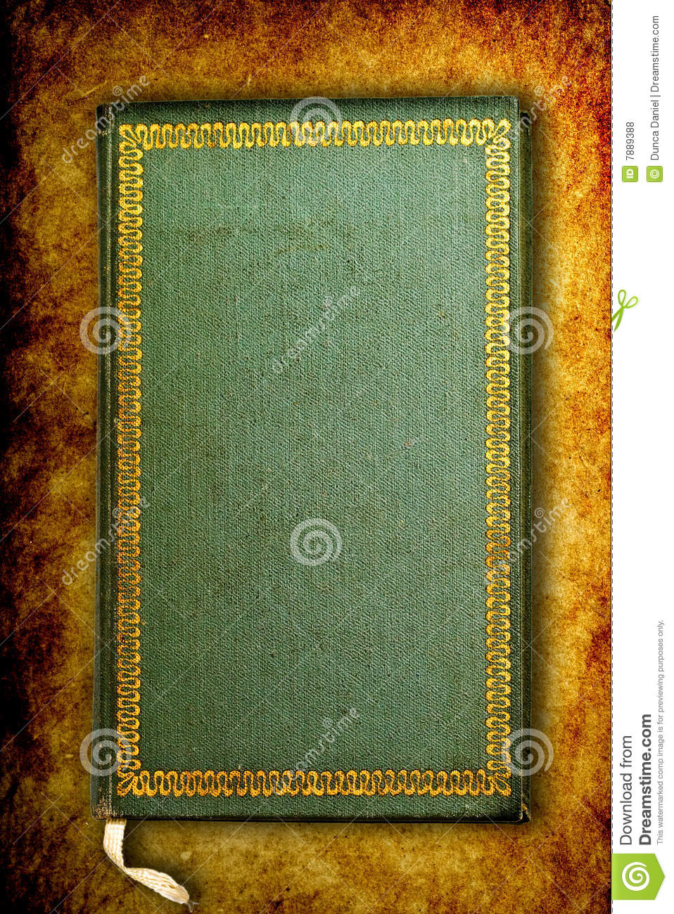 front cover of ancient old mystical book stock photo