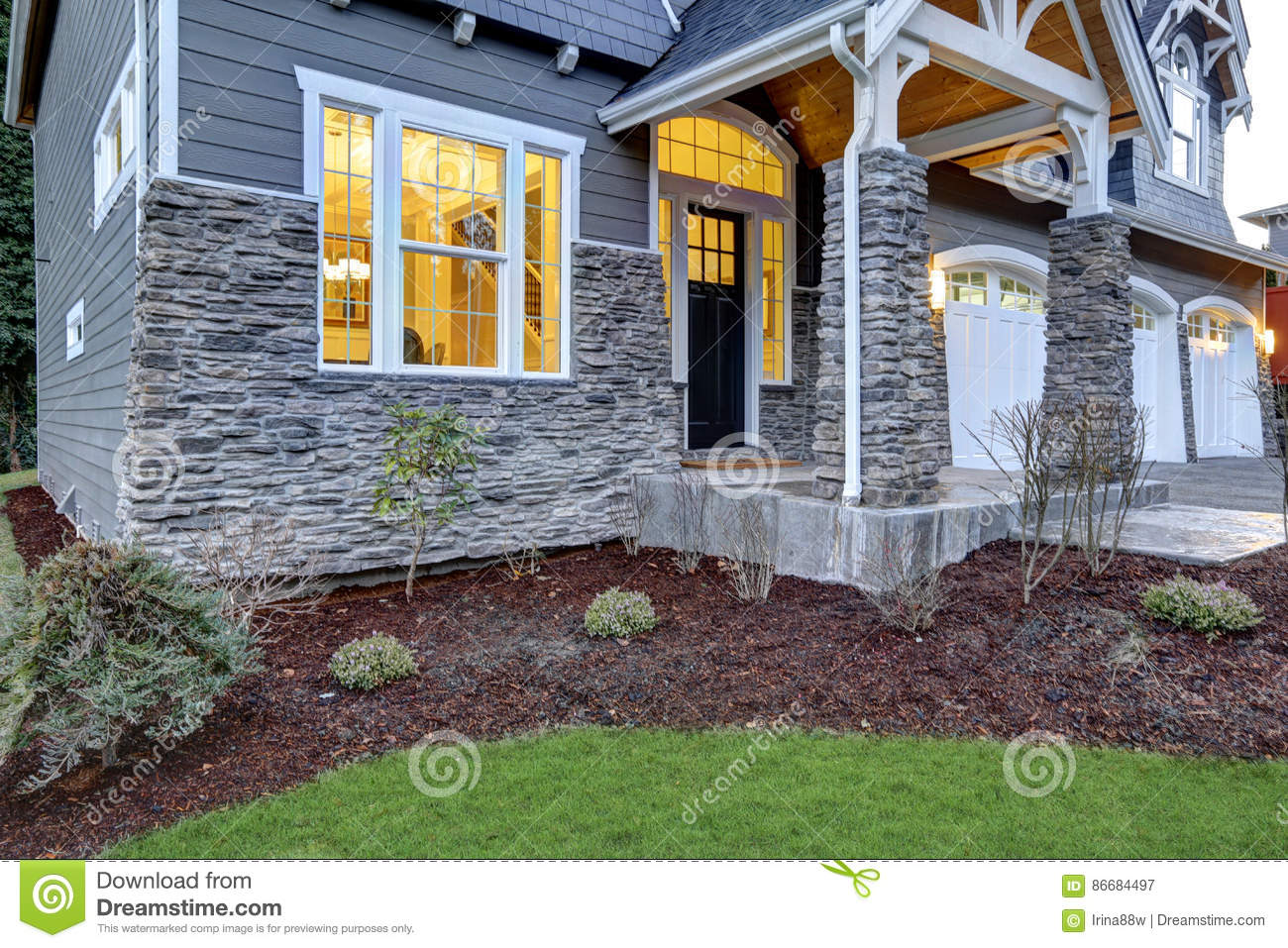 Front Covered Porch Design With Stone Columns Stock Image - Image of on front entrance way designs, stone garage designs, stone bedroom designs, stone deck designs, front door entrance designs, stone yard designs, deck entrance designs, stone interior designs, stone wall designs, rock entrance designs, stone pond designs, stone garden designs, front step designs, driveway entrance designs, neighborhood entrance designs, front entry designs, brick entrance designs, entrance landscape designs, stone patio designs, subdivision entrance designs,