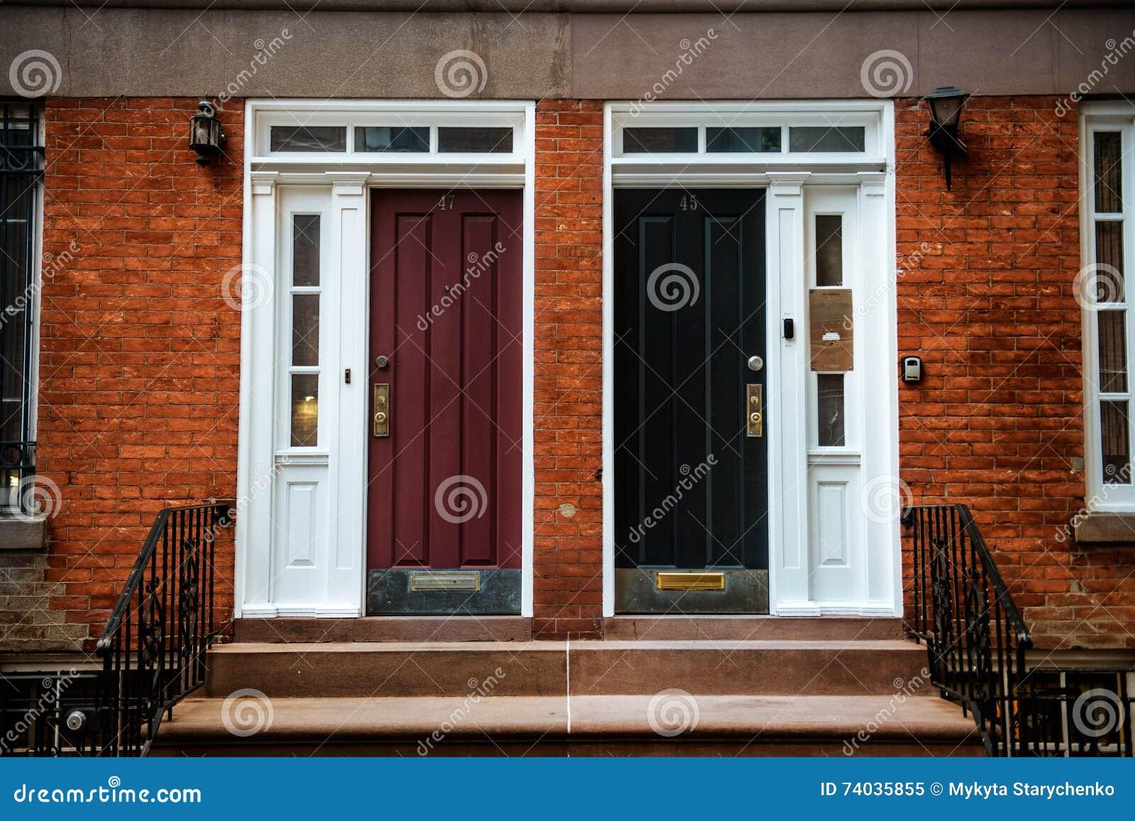 Front door of a beautiful georgian era english manhattan for New front door for house