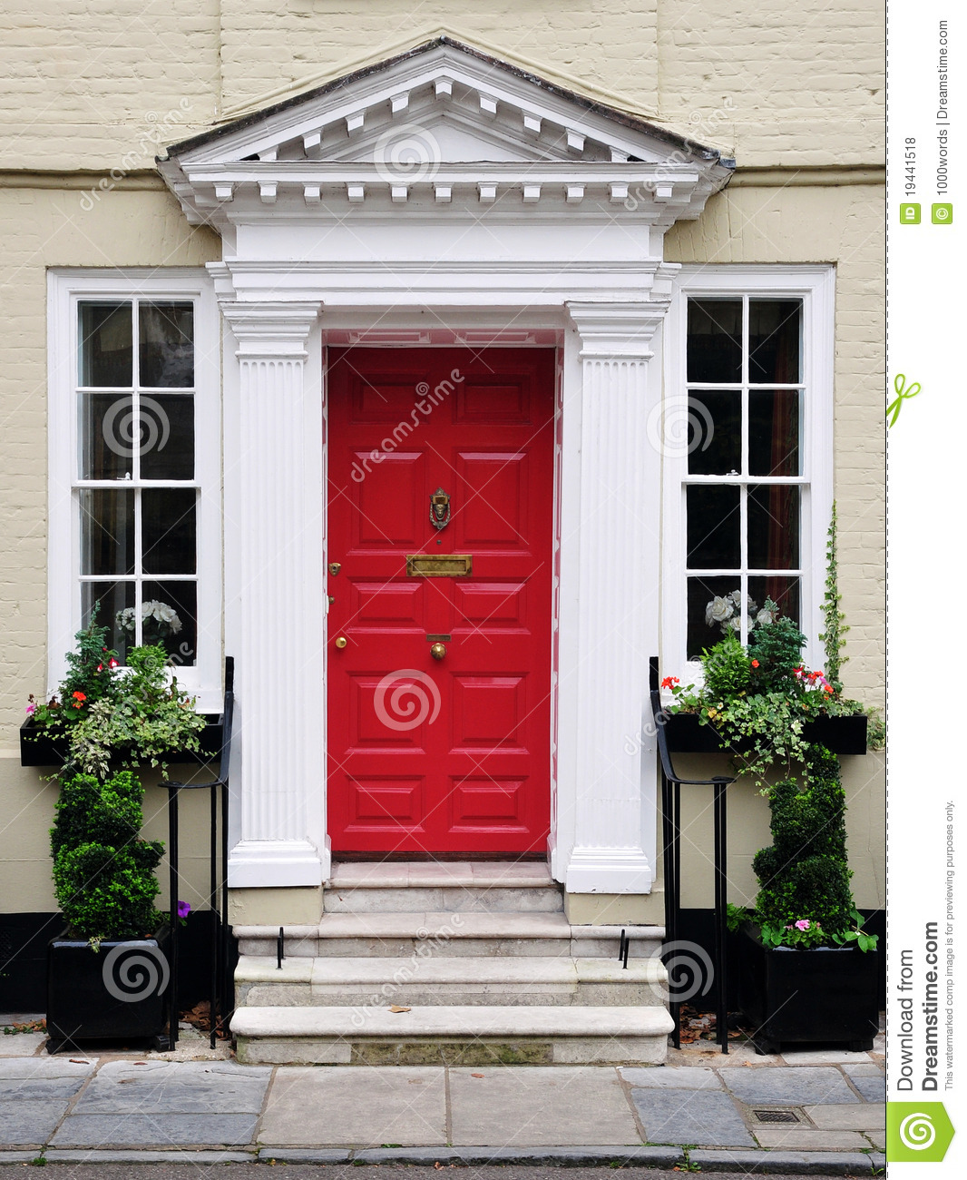Front Door Of A Beautiful House Stock Photo - Image: 19441518