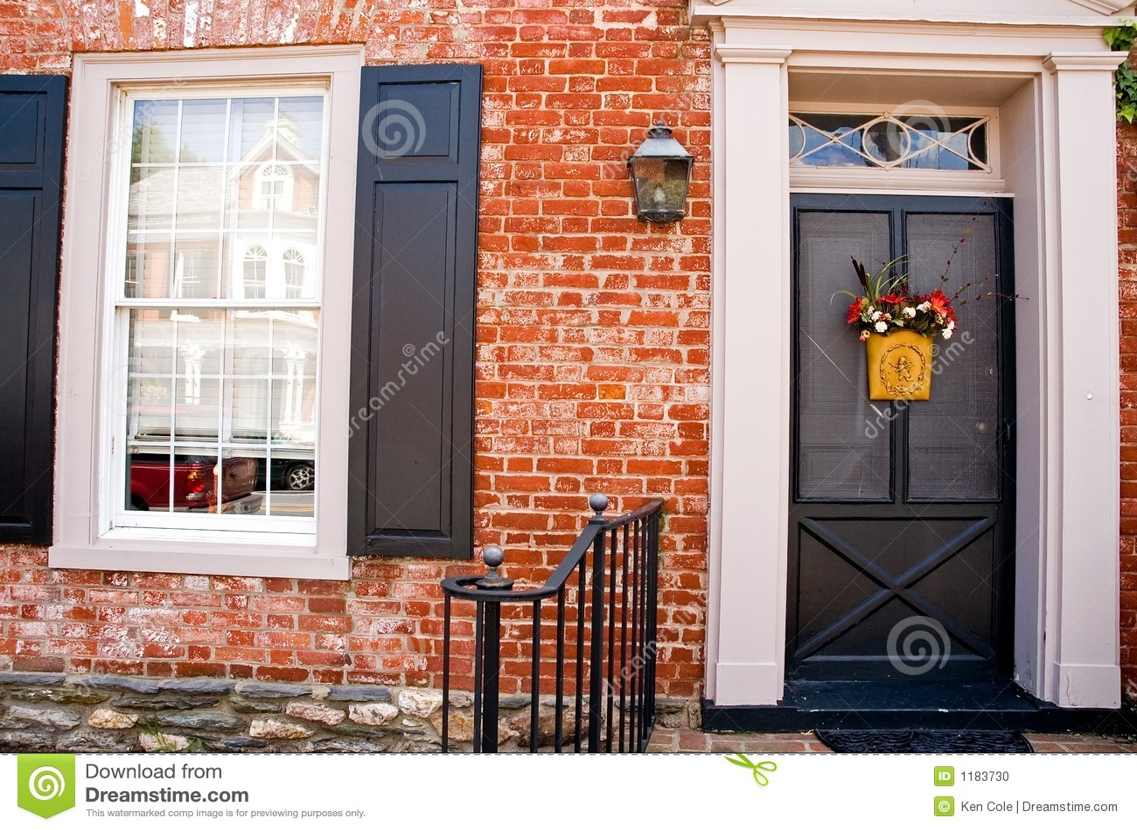 Front Door of Brick House