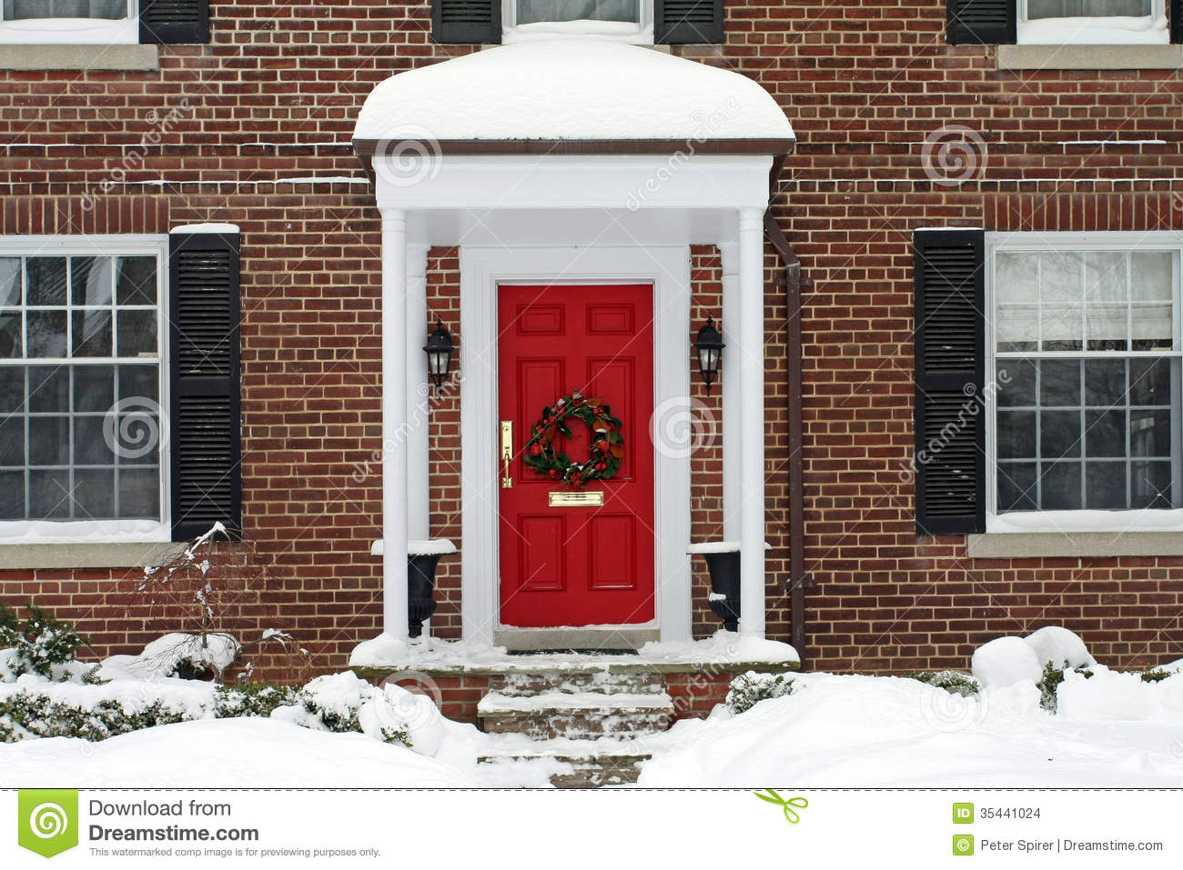 Front door clipart -  Christmas Front Door Clipart