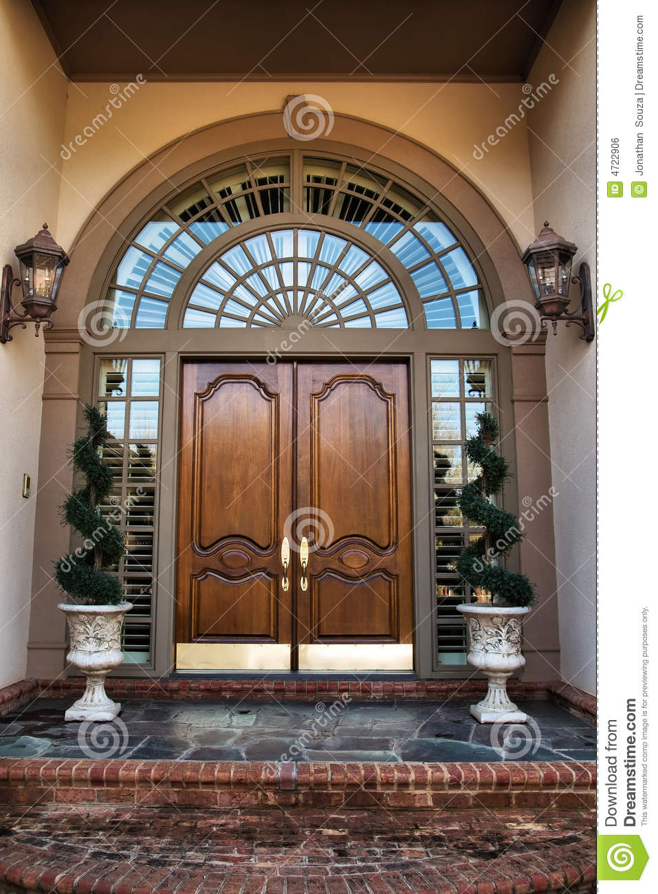 Front Door Entrance To Home Stock Photo Image Of Doorway