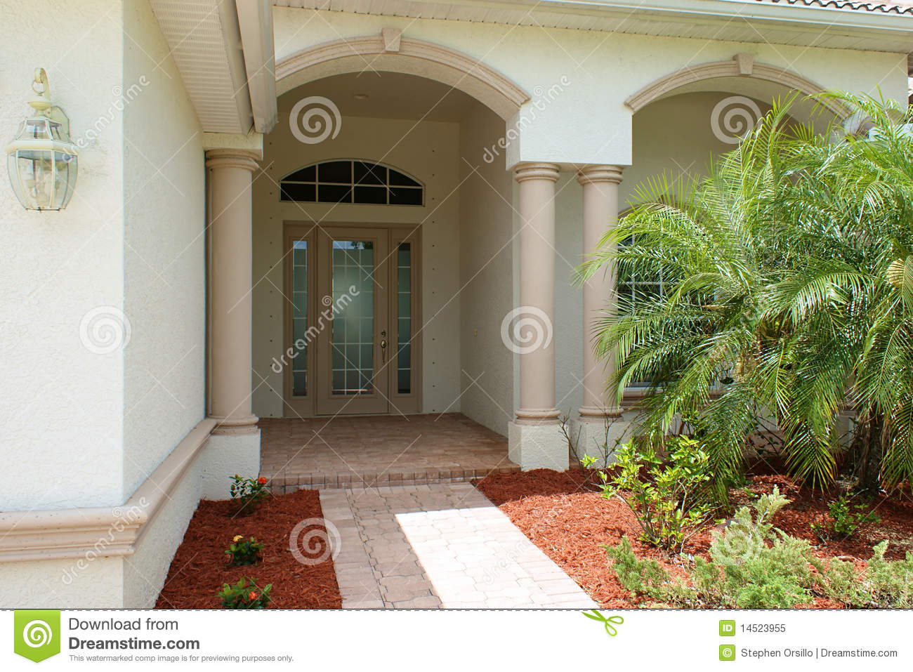 Front door and entry to house royalty free stock photo for High end front doors