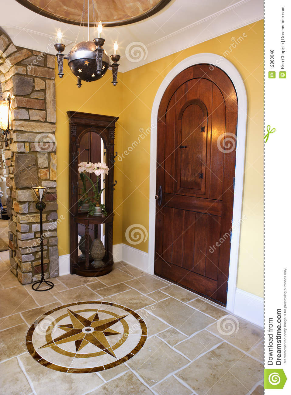 Front Door And Foyer Of Luxury Home Royalty Free Stock Photos   Image