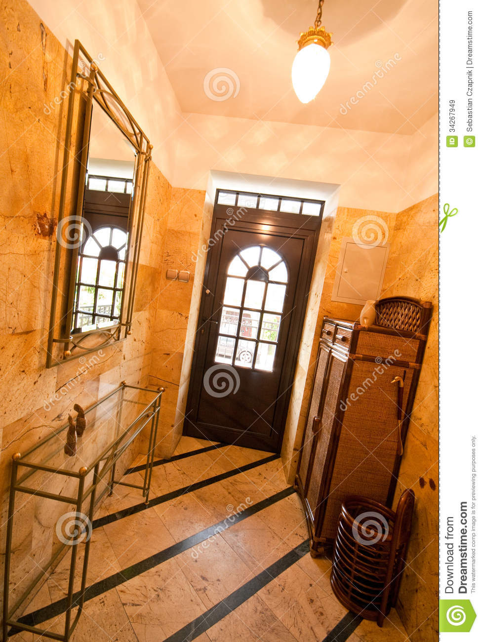 Front Door And Hallway Stock Image Image Of Flooring