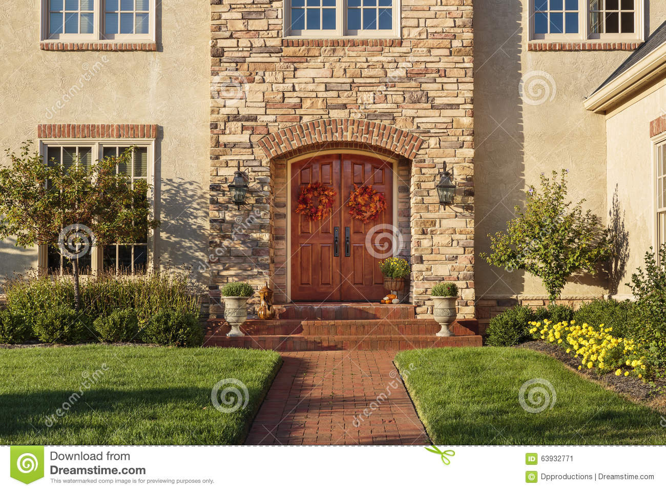 Front Yard Landscaping Royalty-Free Stock Image ...