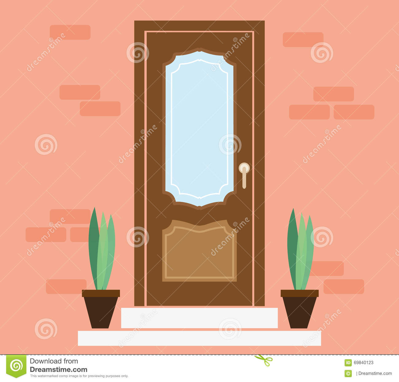 Front door clipart - Door Entrance Exterior Front