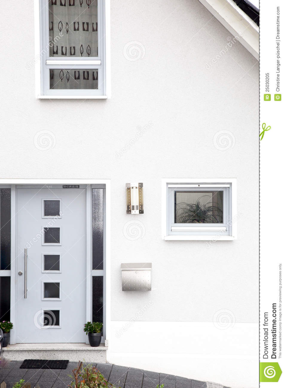 Front door of a modern house stock image image of for House door image