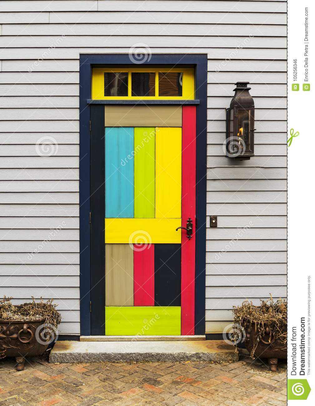 Front Door Of A House In Portsmouth Nh Stock Photo Image Of