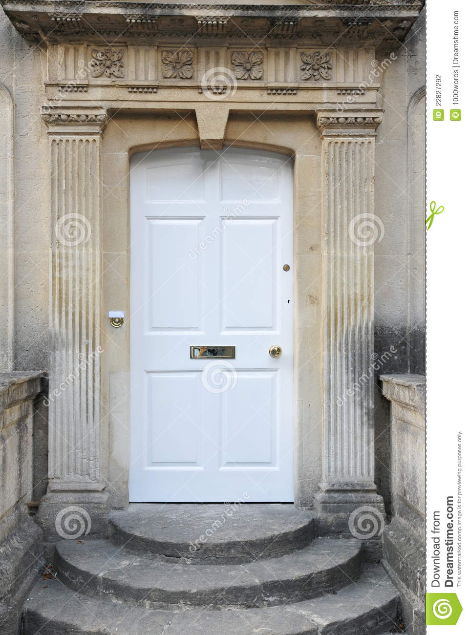 Front Door Of An Old English Town House Stock Photography - Image ...