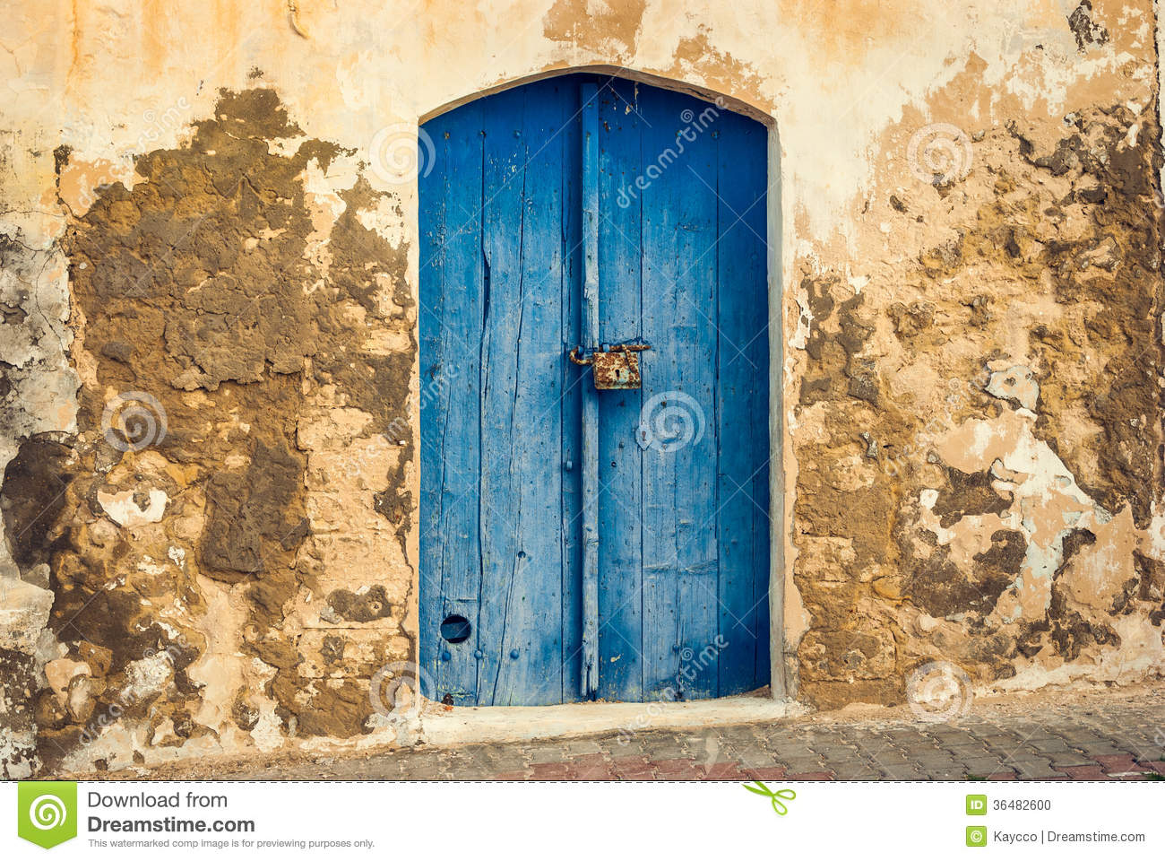 The Front Door Of The Old House Stock Photo Image Of