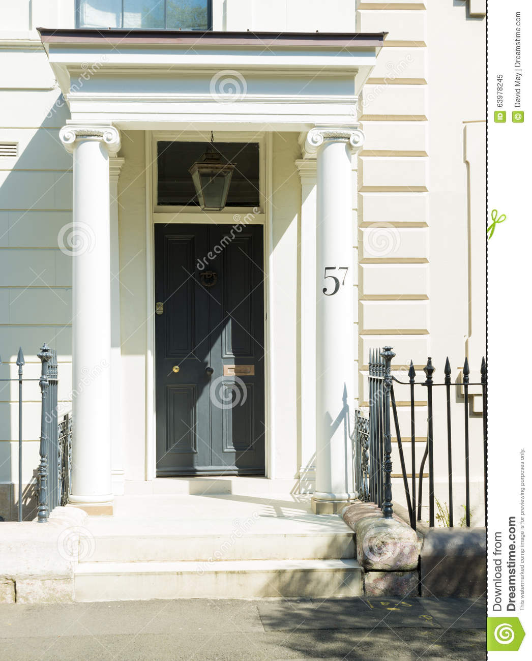 Front Door Restored Georgian House Editorial Image Image