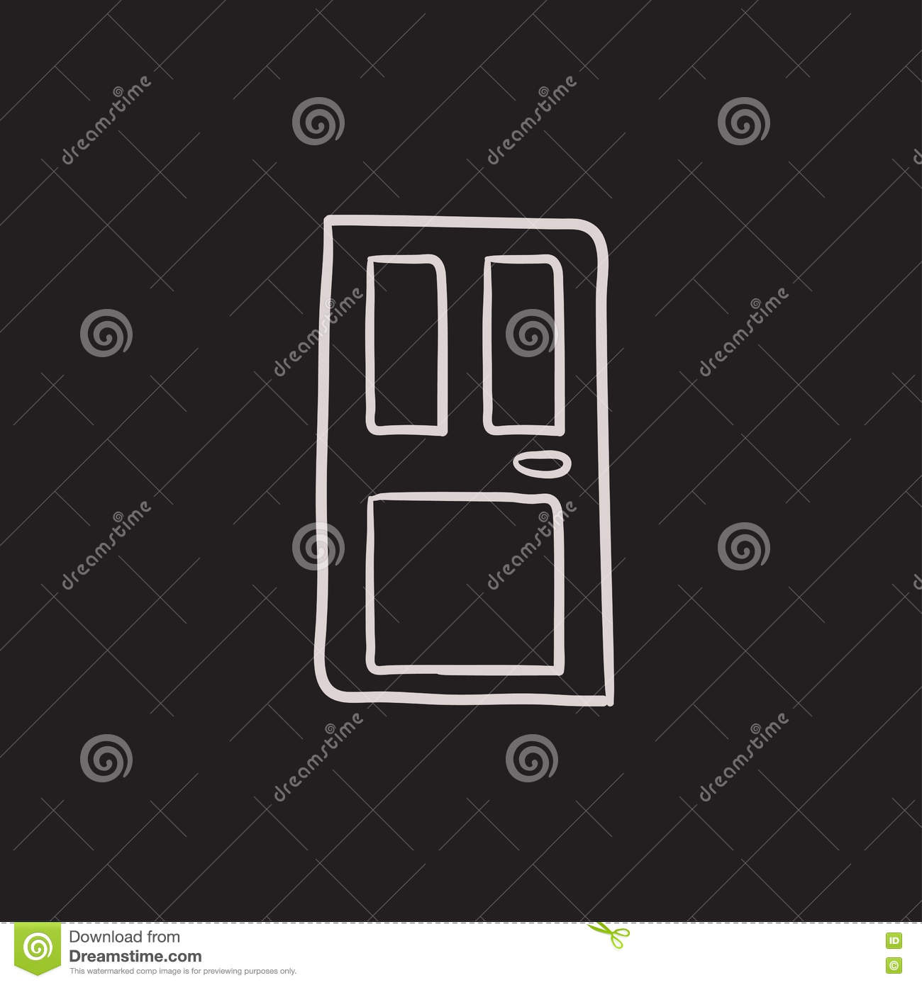 Front Door Sketch Icon Stock Vector Illustration Of Mobile 78163424