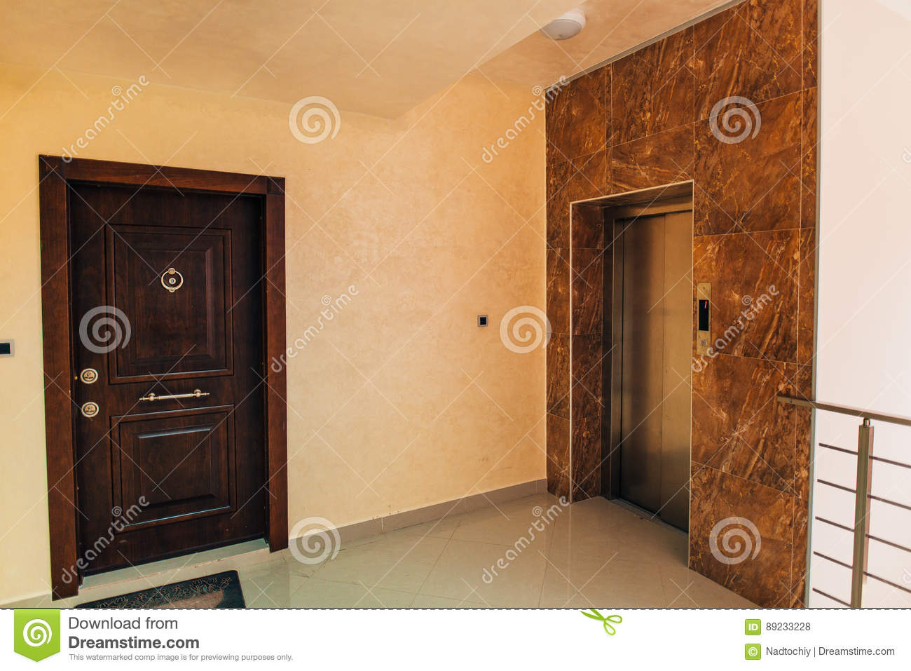 The Front Door To The Apartment. Stock Photo - Image of ...