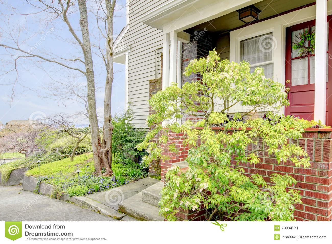 Download Front Door Of Typical American House. Stock Image - Image of home, typical: 28084171
