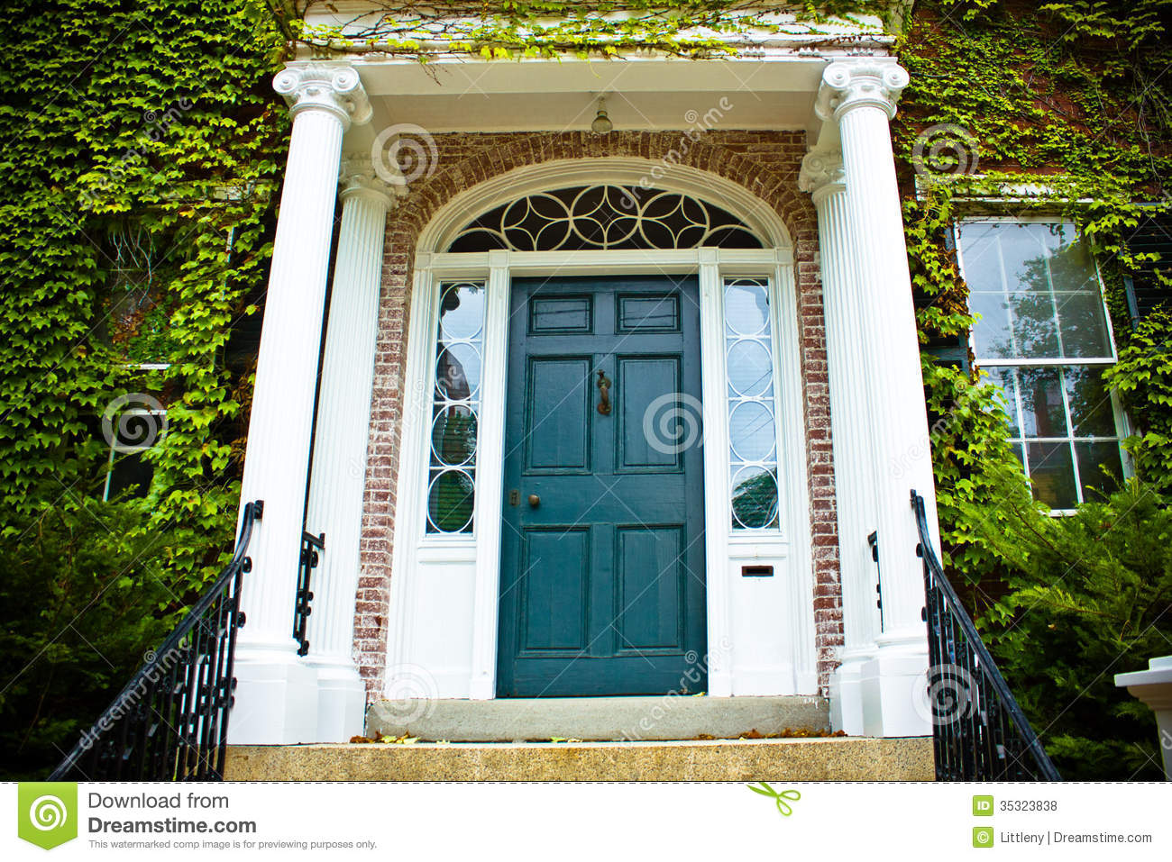 Front Door Stock Photo Image Of American Classic Porch 35323838