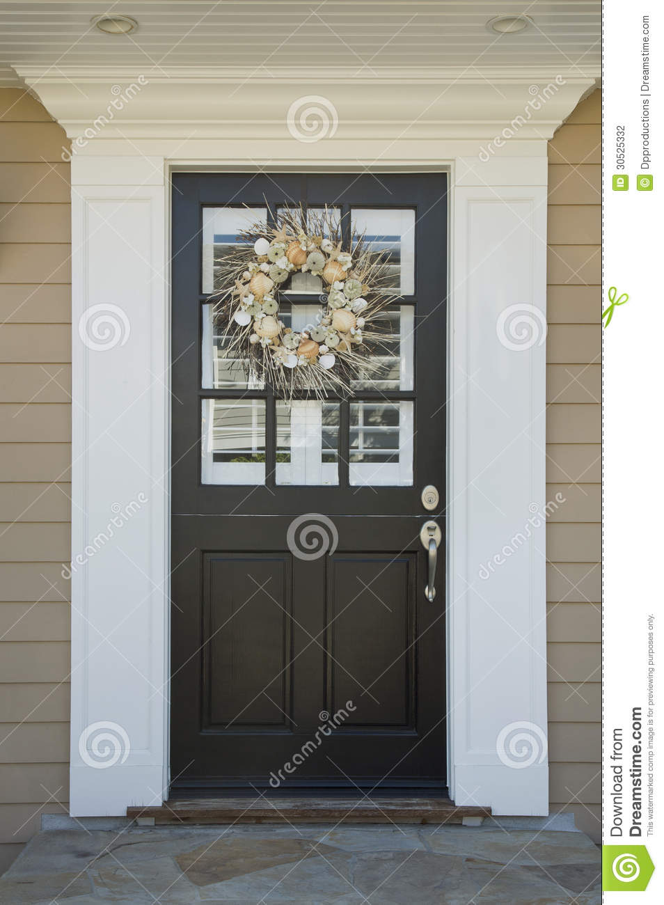 Front Door Of An Upscale Home Stock Photography Image