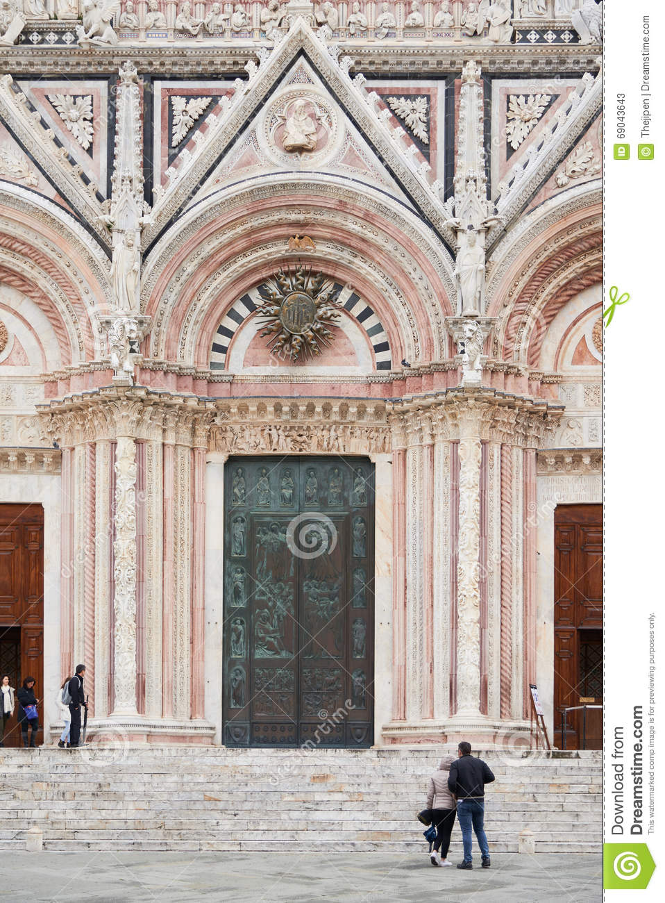 Medieval Church Built In The Romanesque And Italian Gothic Style It