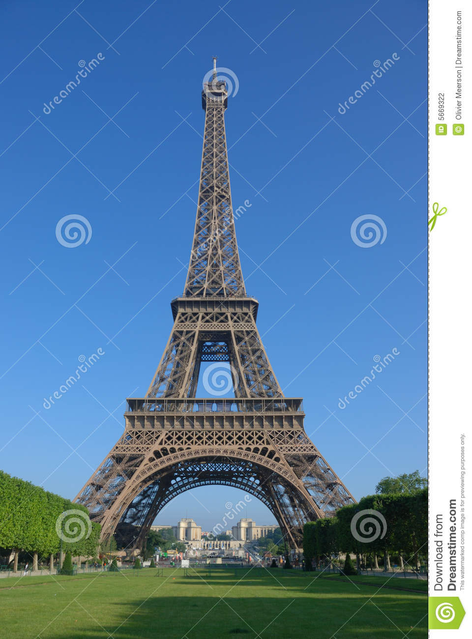 In Front Of The Eiffel Tower Stock Photo Image 5669322