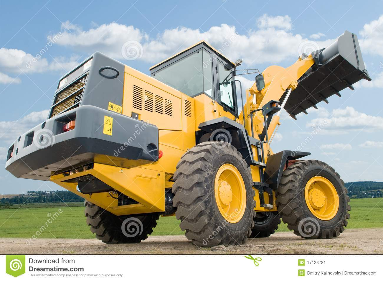 front end loader machine stock image image 17126781