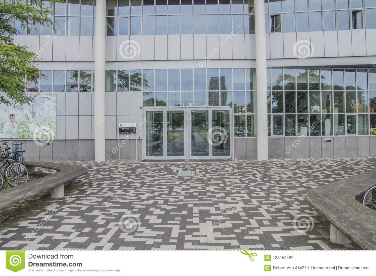 Front Entrance Building From The University Of Amsterdam At