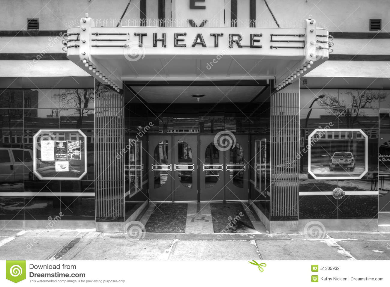 Front Entrance Of Movie Theatre Editorial Photography