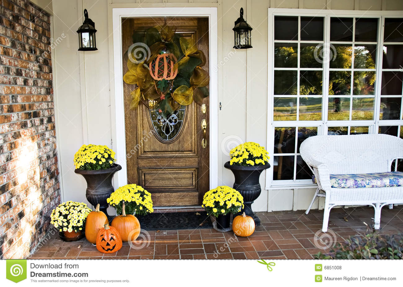 Front Fall Entryway Royalty Free Stock Photos - Image: 6851008