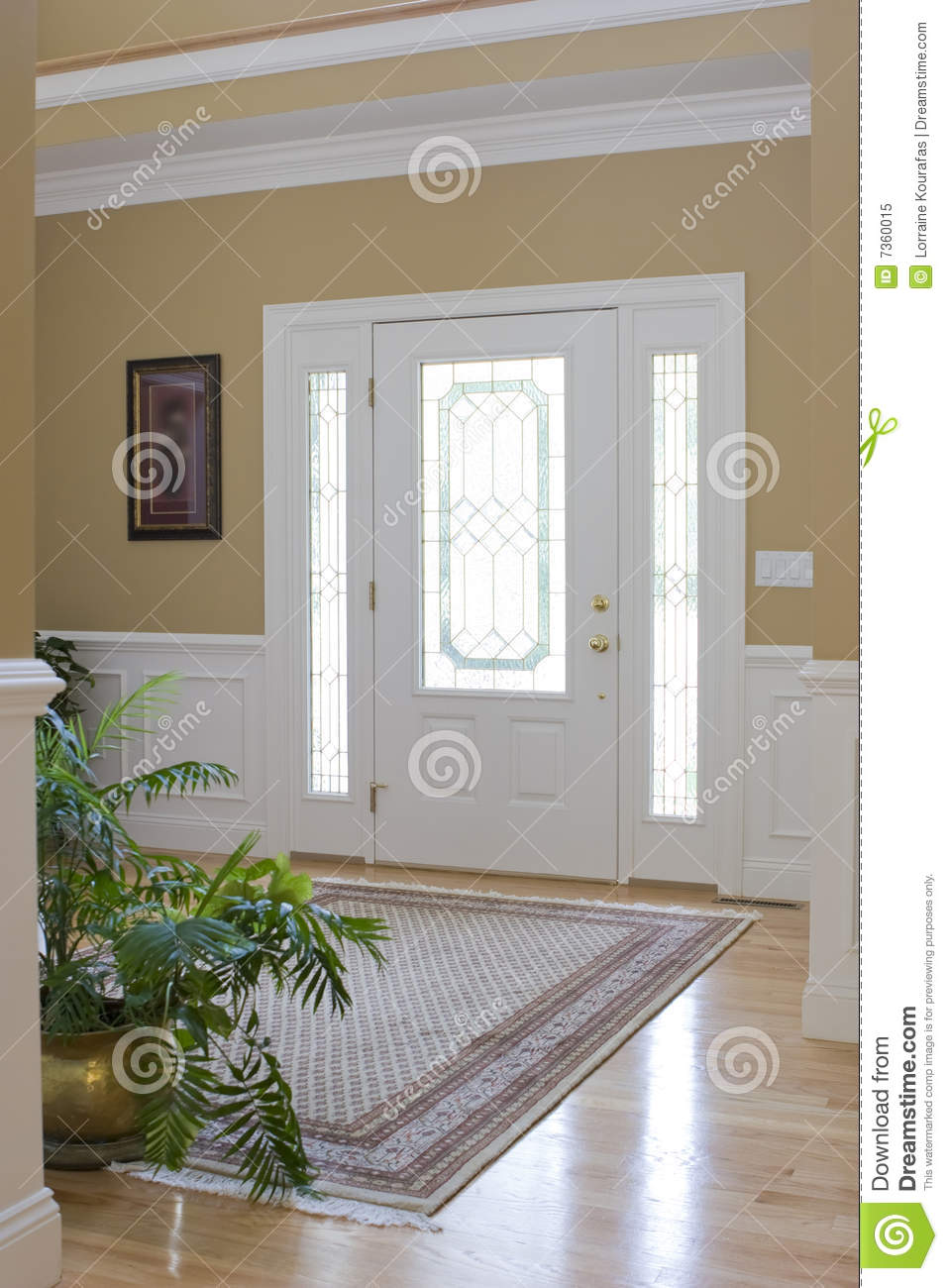 Front Foyer Xl : Front foyer stock image of contemporary light