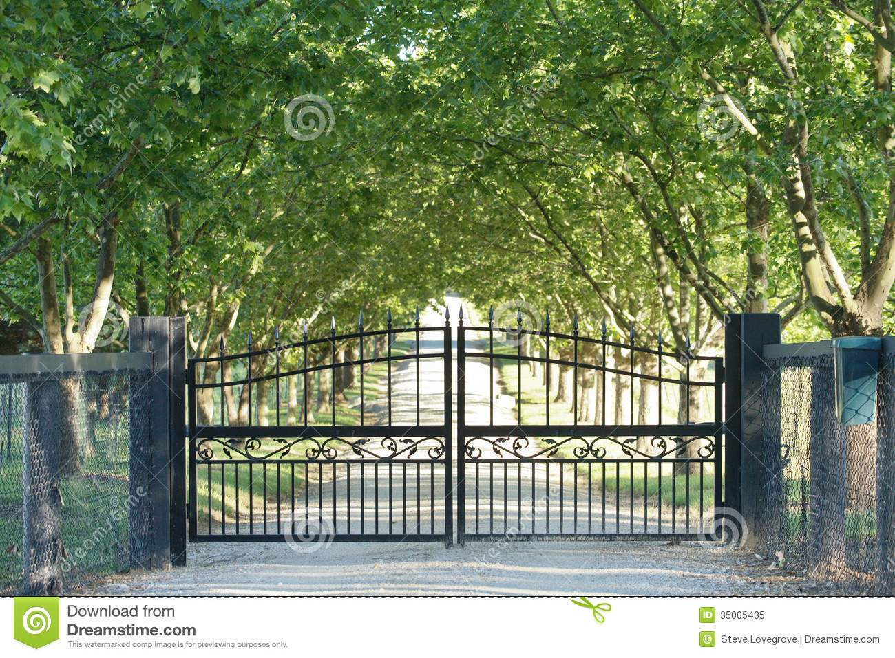 Front Gate Stock Image Image Of Country Fence Security