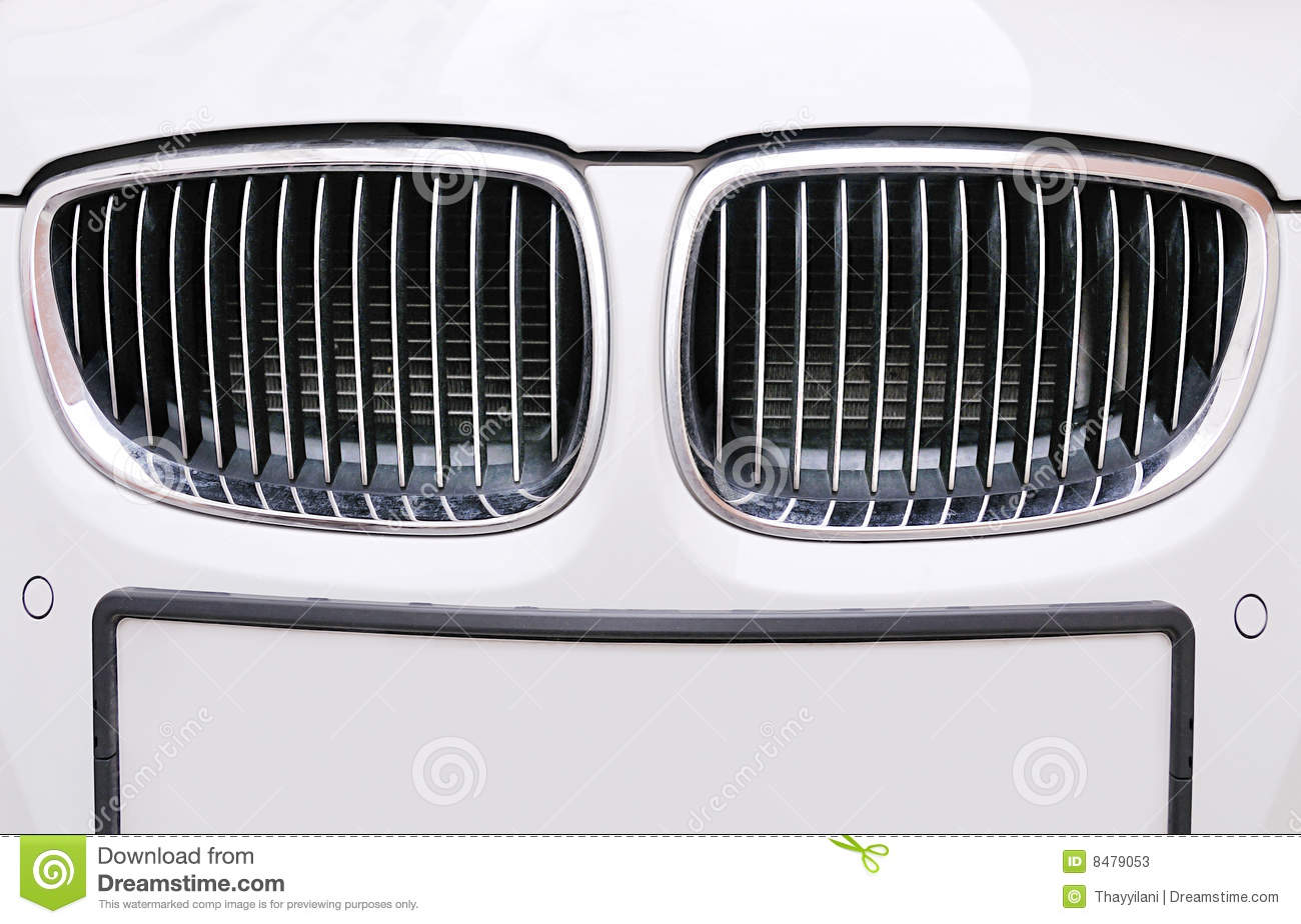 Front Grill Of Bmw White Car Stock Photos Image 8479053
