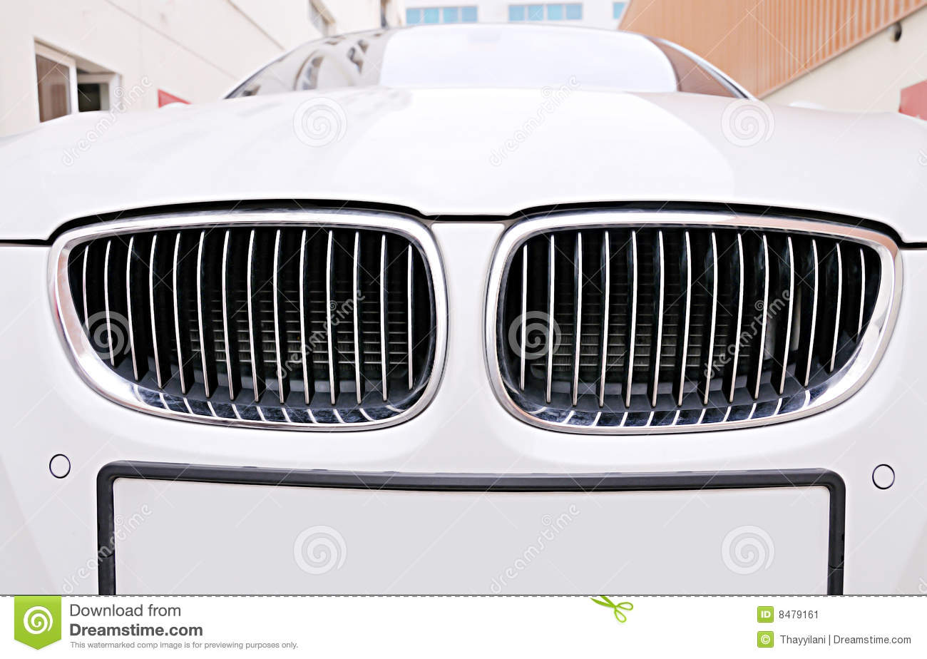 Front Grill Of BMW White Car Stock Image Image 8479161