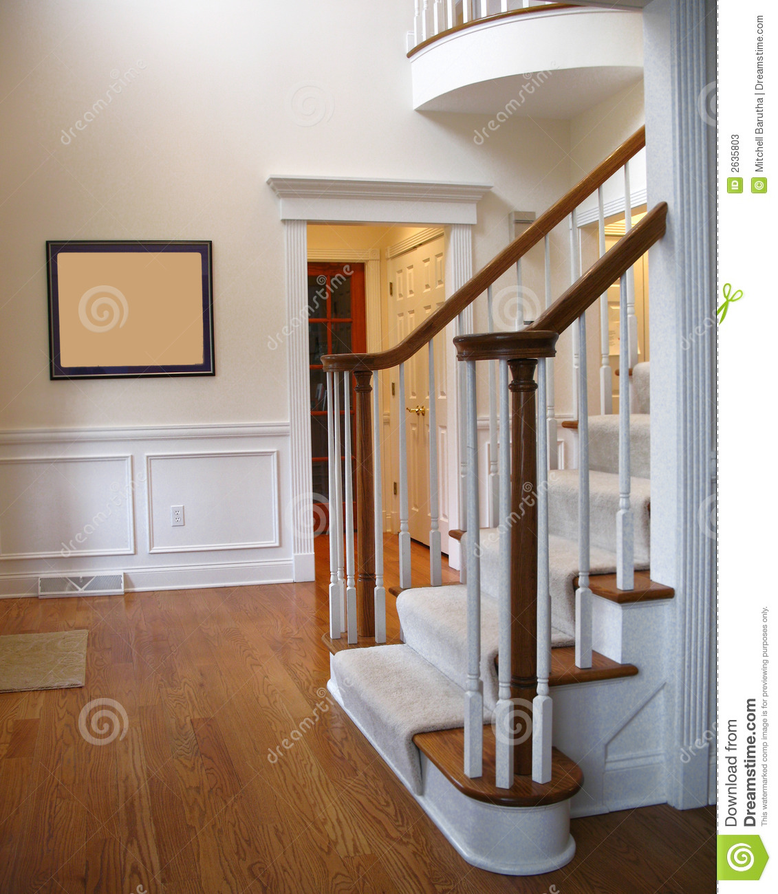 Beautiful Front Hall And Staircase: Front Hall Stairs Stock Photos