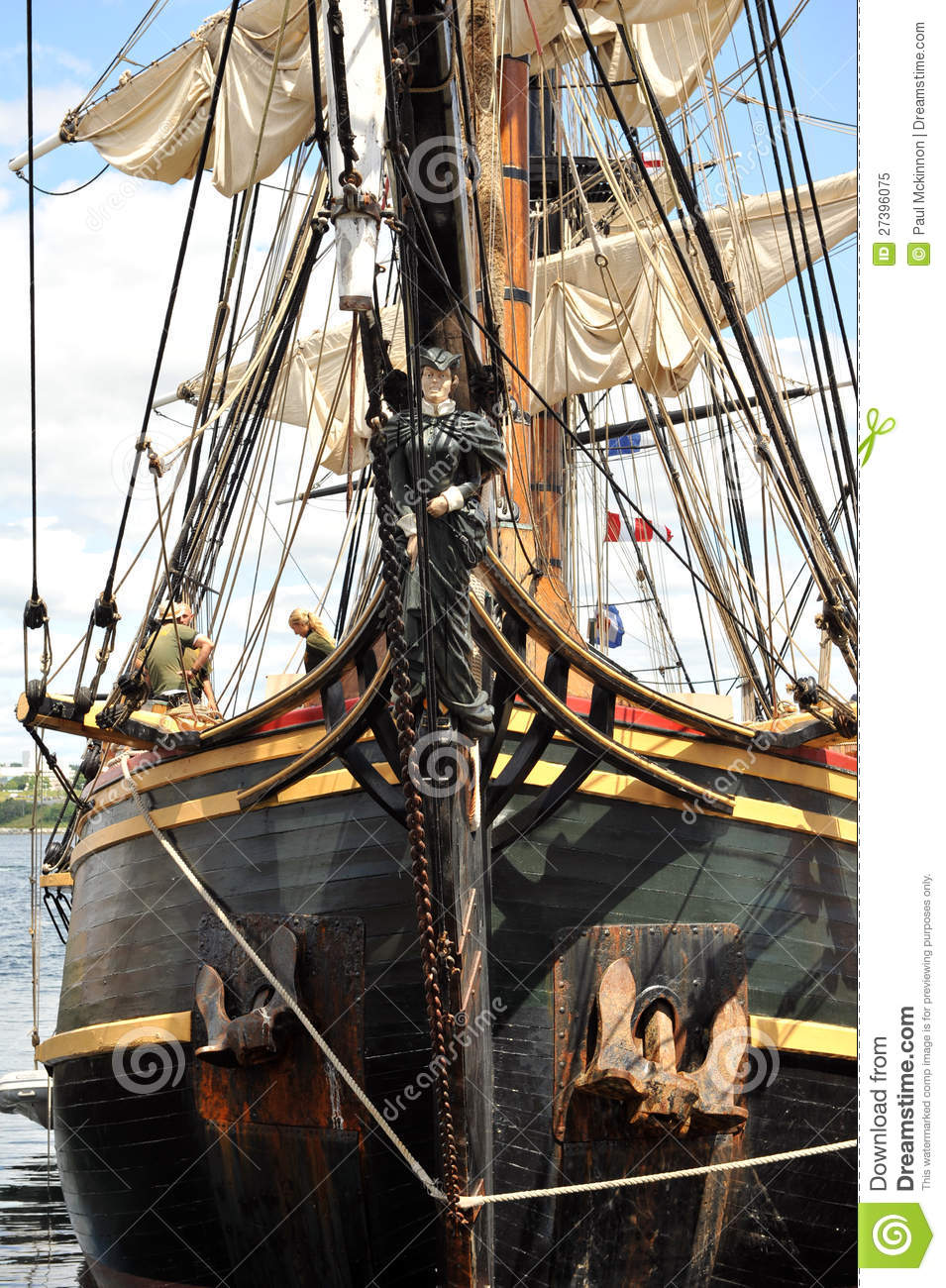 Front Of HMS Bounty With Figurehead Editorial Image ...