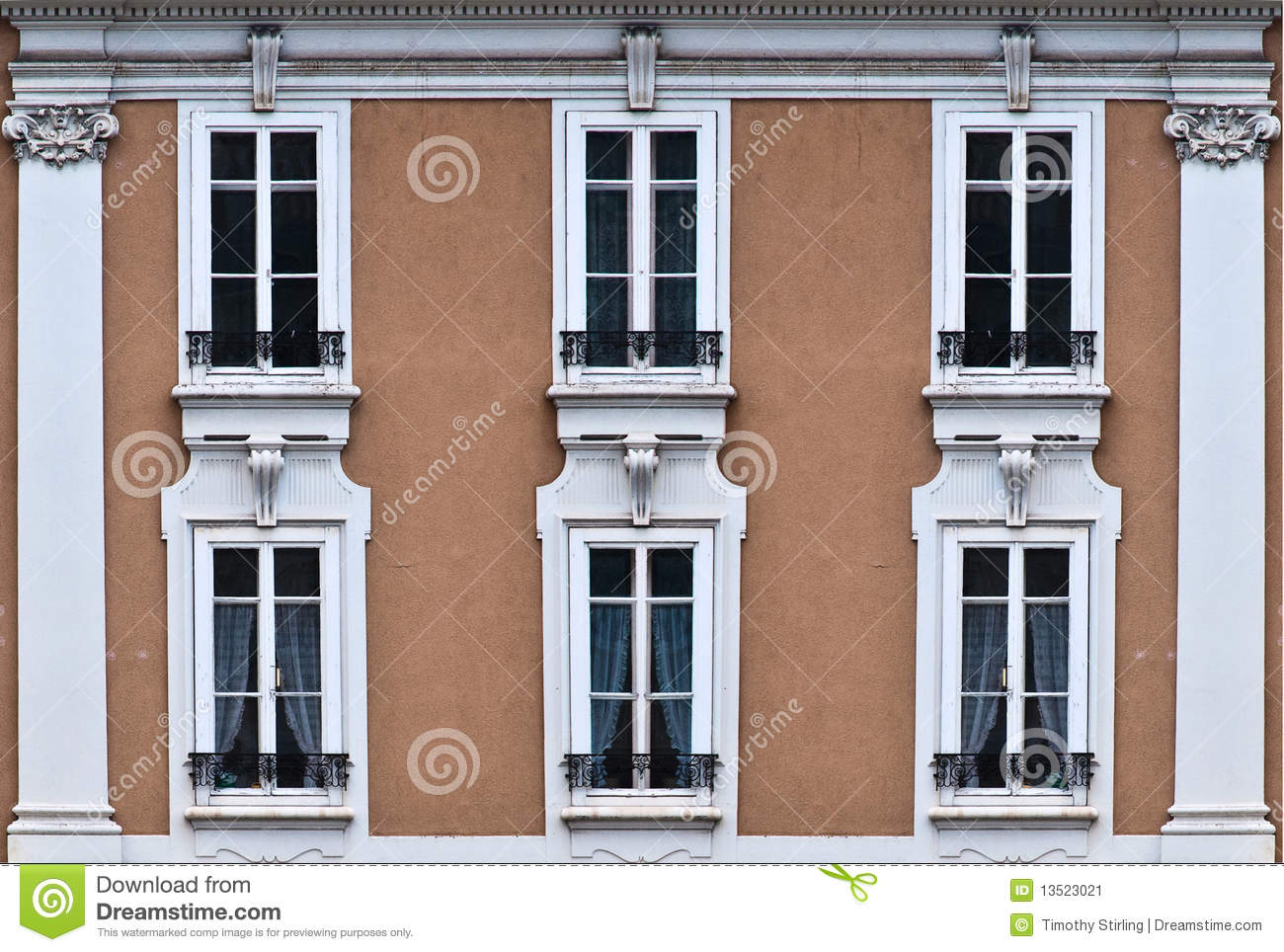Front of house with 6 windows stock image image 13523021 for House windows online