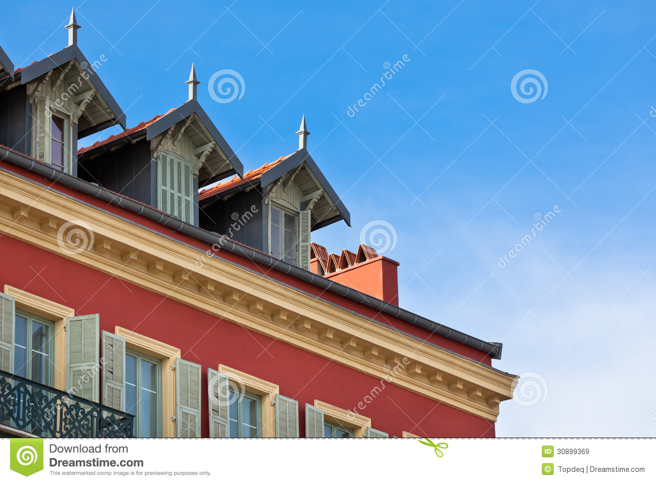 Front of house in nice france royalty free stock images for Nice building images