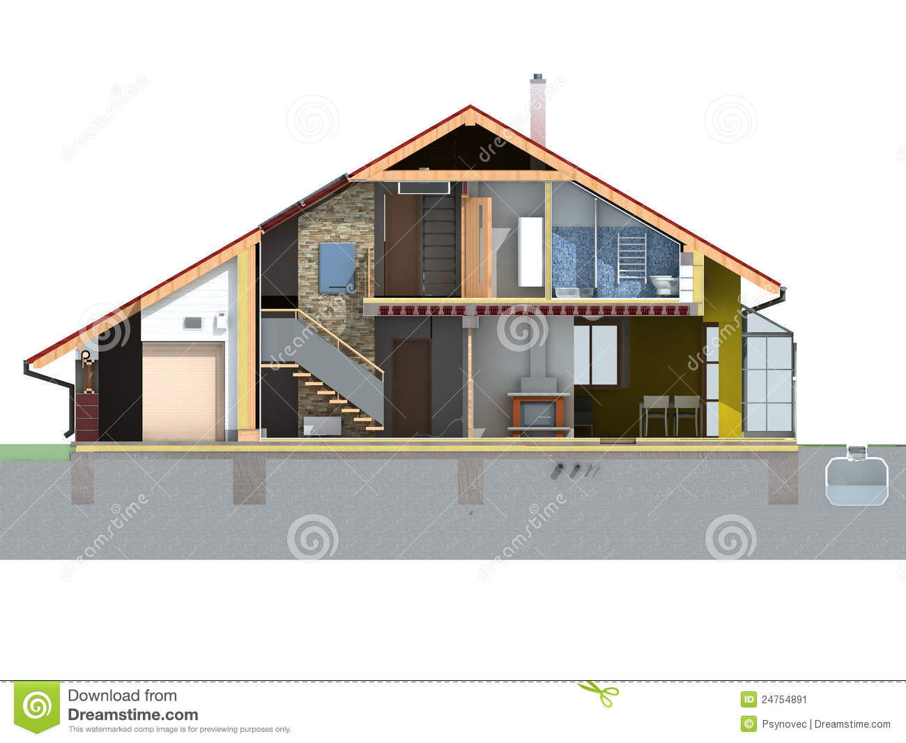 Front House Section Stock Image Image 24754891