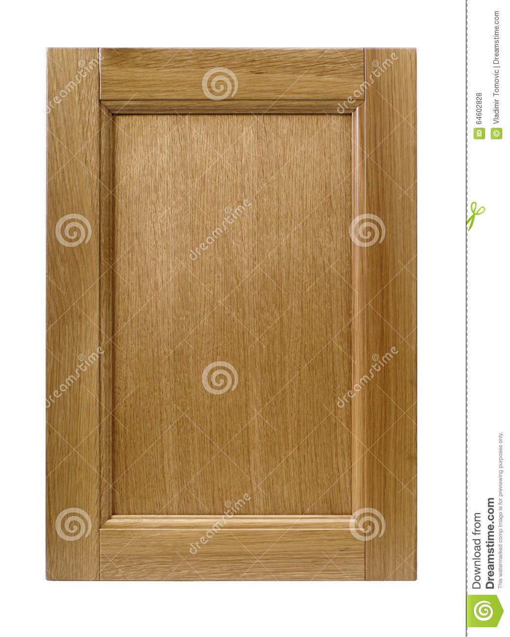 Kitchen Cabinet Frames Only: Front Kitchen Wooden Frame Cabinet Door Isolated On White