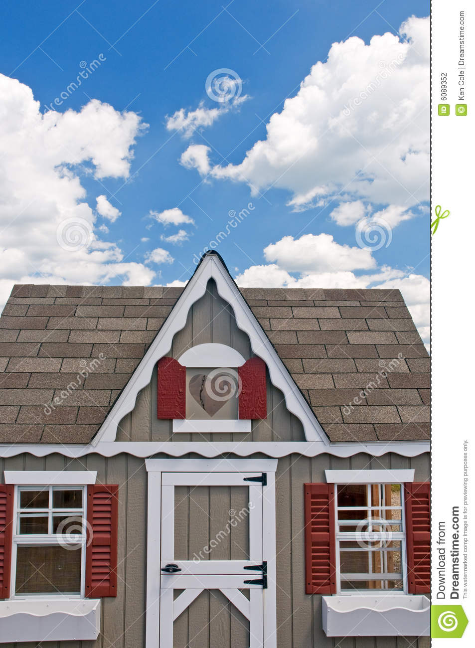 Front of little house