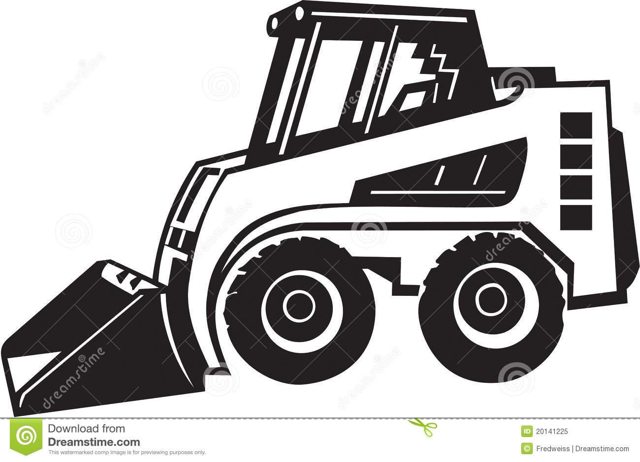 Front Loader Illustration Royalty Free Stock Photo - Image: 20141225