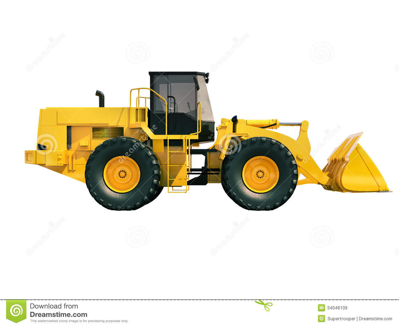 Front Loader Isolated Royalty Free Stock Images - Image: 34046109
