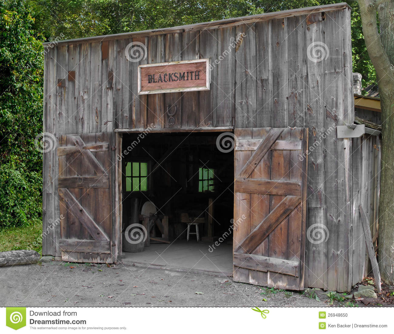 Front Of An Old Blacksmith Shop Stock Photo Image Wood Gray 26948650