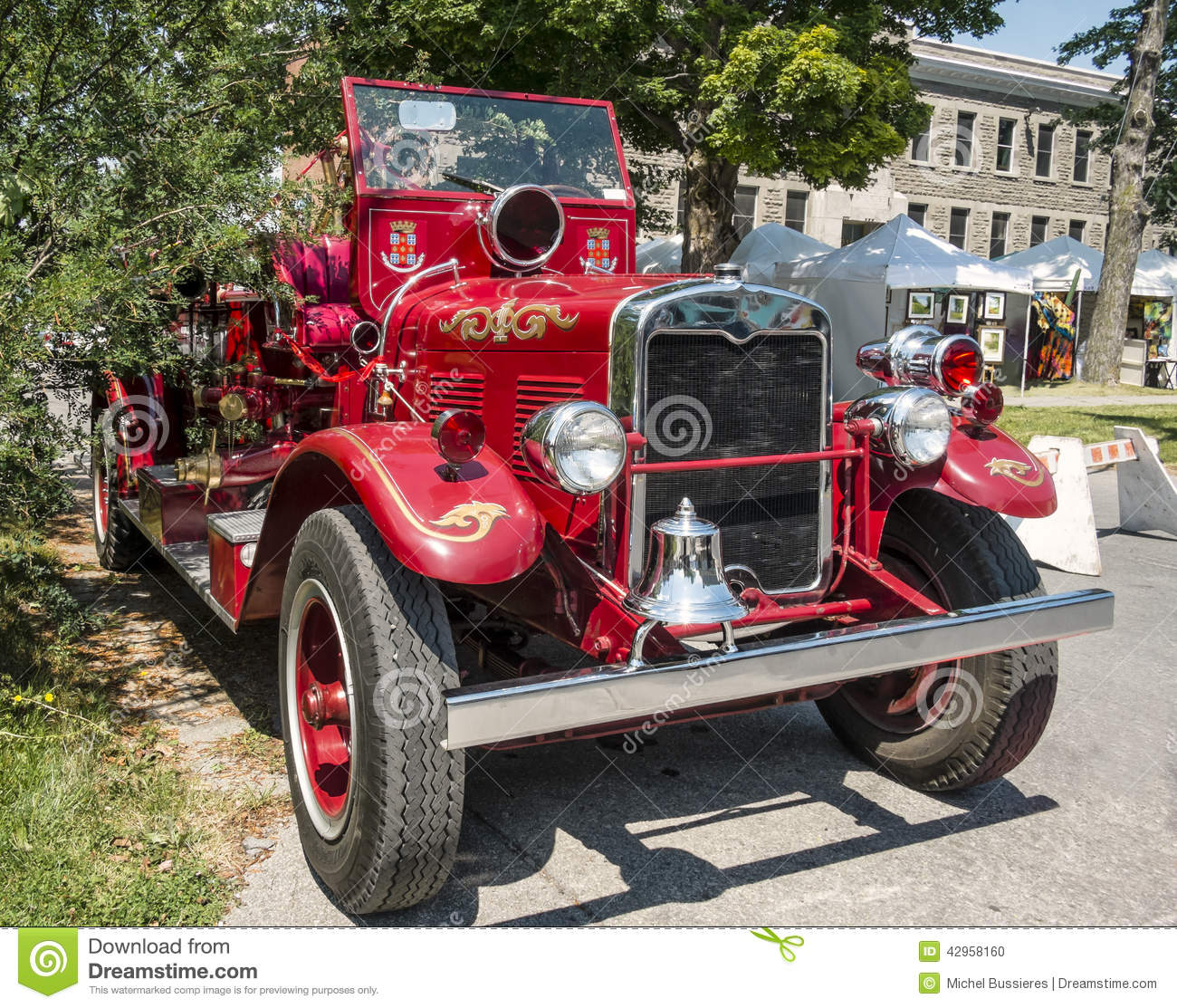 Front Of A Old Vintage Fire Truck Stock Photo Image Of Trucks Fighting 42958160