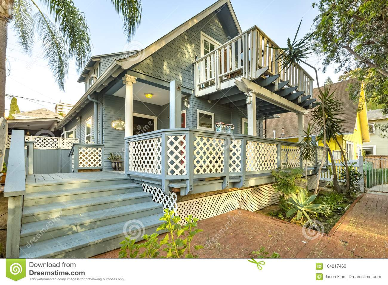 front perspective of a wonderful cottage home stock photo image of rh dreamstime com