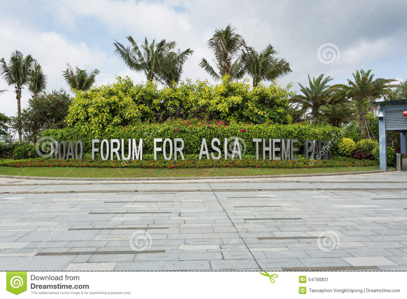 Boao China  City pictures : BOAO CHINA, MAY 11 : front place logo of Boao forum for asia theme ...